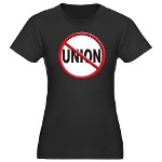 Anti-Union Women's Fitted T-Shirt (dark)