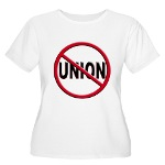 Anti-Union Women's Plus Size Scoop Neck T-Shirt
