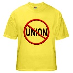 Anti-Union Yellow T-Shirt