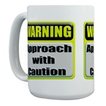 Approach With Caution Large Mug