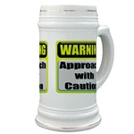 Approach With Caution Beer Stein
