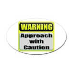 Approach With Caution Oval Sticker