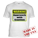 Approach With Caution Fitted T-Shirt