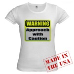 Approach With Caution Jr. Baby Doll T-Shirt