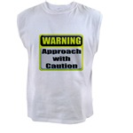 Approach With Caution Men's Sleeveless Tee