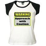 Approach With Caution Women's Cap Sleeve T-Shirt