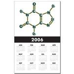Caffeine Molecule Calendar Print