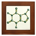 3d design of The Caffeine Molecule Structure Trimethylxanthine C8H10N4O2