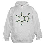 Caffeine Molecule Hooded Sweatshirt