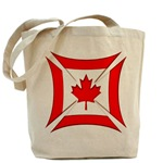 Canadian Biker Cross Tote Bag