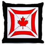 Canadian Biker Cross Throw Pillow