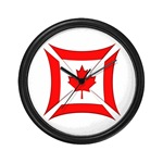Canadian Biker Cross Wall Clock