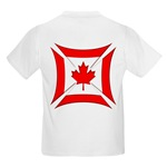Canadian Biker Cross Kids T-Shirt