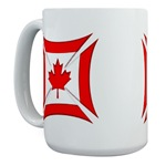 Canadian Biker Cross Large Coffee Mug