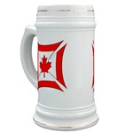 Canadian Biker Cross Beer Stein