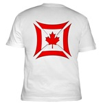 Canadian Biker Cross Fitted T-Shirt