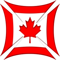 Canadian Flag Biker Maltese Iron Chopper Cross