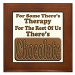 Chocolate Therapy Framed Tile