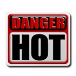 DANGER: HOT! Mousepad