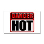DANGER: HOT! Rectangular Sticker