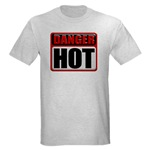 DANGER: HOT! Ash Grey T-Shirt