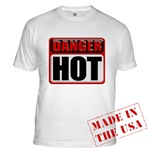 DANGER: HOT! Fitted T-Shirt