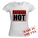 DANGER: HOT! Jr. Baby Doll T-Shirt