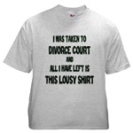 I Was Taken To Divorce Court And All I Have Left Is This Ash Grey T-Shirt