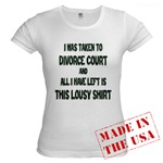 I Was Taken To Divorce Court And All I Have Left Is This Jr. Baby Doll T-Shirt