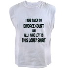 I Was Taken To Divorce Court And All I Have Left Is This Men's Sleeveless Tee
