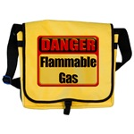 Danger: Flammable Gas Messenger Bag