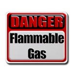 Danger: Flammable Gas Mousepad