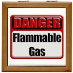 Danger: Flammable Gas Tile Box