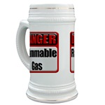 Danger: Flammable Gas Beer Stein