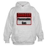 Danger: Flammable Gas Hooded Sweatshirt