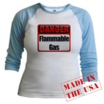 Danger: Flammable Gas Jr. Raglan