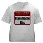 Danger: Flammable Gas Ash Grey T-Shirt