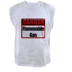 Danger: Flammable Gas Men's Sleeveless Tee
