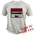 Danger: Flammable Gas Organic Cotton Tee