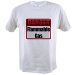 Danger: Flammable Gas Value T-shirt