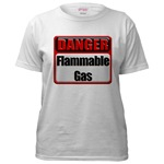 Danger: Flammable Gas Women's T-Shirt