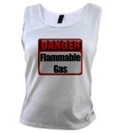 Danger: Flammable Gas Women's Tank Top