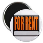 For Rent Sign Magnet