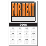 For Rent Sign Calendar Print