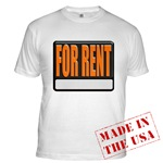 For Rent Sign Fitted T-Shirt