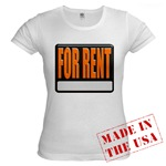 For Rent Sign Jr. Baby Doll T-Shirt