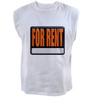 For Rent Sign Men's Sleeveless Tee