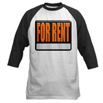 For Rent Sign Baseball Jersey