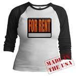 For Rent Sign Jr. Raglan