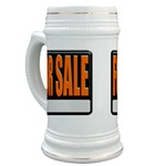 For Sale Sign Beer Stein